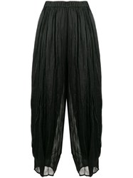 Forte Forte Cropped High Waisted Trousers Black
