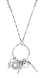Alexander Wang O Ring Trinket Necklace Silver