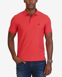 Nautica Men's Slim Fit Performance Deck Polo Rose Coral