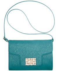 Rampage Clasp Crossbody Teal
