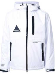 Education From Youngmachines Contrast Detailing Sport Jacket White