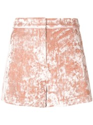 Alexis Textured Shorts Pink