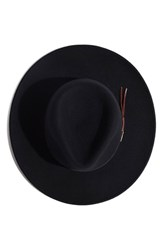Men's Stetson 'Bozeman' Crushable Felt Cowboy Hat Black