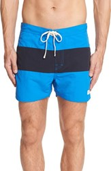 Saturdays Surf Nyc Men's Grant Board Shorts Bright Blue Midnight