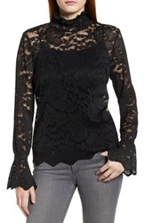 Everleigh Stretch Lace Top Black