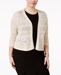 Jm Collection Plus Size Crochet Shrug Only At Macy's Flax