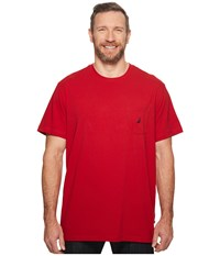 Nautica Big And Tall Big Tall Short Sleeve Anchor Pocket Tee Red Short Sleeve Button Up