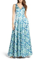 Adrianna Papell Women's Jacquard Ballgown
