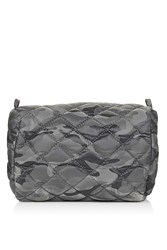 Topshop Nylon Quilted Camo Make Up Bag Grey