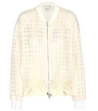 3.1 Phillip Lim Boucle Bomber Jacket White