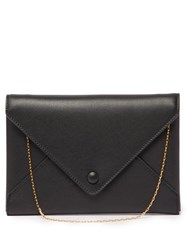 The Row Envelope Small Leather Clutch Black