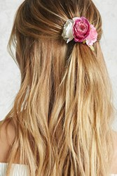 Forever 21 Floral Hair Tie Coral Cream