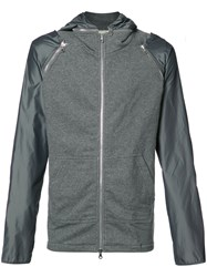 Mostly Heard Rarely Seen Zipped Hoodie Grey