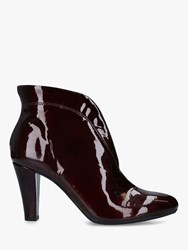 Carvela Comfort Rida Patent Leather Ankle Boots Red Wine