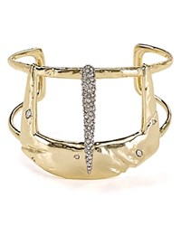 Alexis Bittar Wide Buckle Cuff Gold Clear