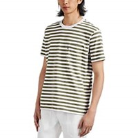 Alex Mill Striped Slub Cotton T Shirt White
