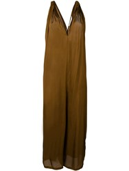 Mes Demoiselles Knotted Hayati Dress Brown