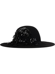 Lanvin Sequin Fedora Hat Black