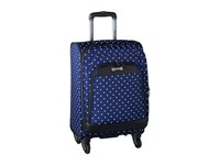 Kenneth Cole Reaction Dot Matrix Collection 20 Carry On Navy White Dots Carry On Luggage