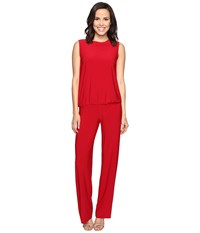 Norma Kamali Sleeveless Babydoll Jumpsuit Red Women's Jumpsuit And Rompers One Piece