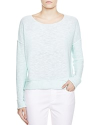 Eileen Fisher Petites Rolled Seam Sweater Green Mint