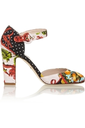 Dolce And Gabbana Printed Brocade Pumps