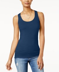 Planet Gold Juniors' Racerback Tank Top Blue Depths