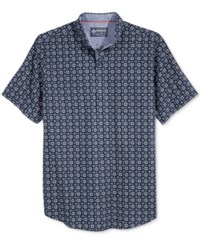 American Rag Men's Foulard Print Short Sleeve Shirt Only At Macy's Basic Navy