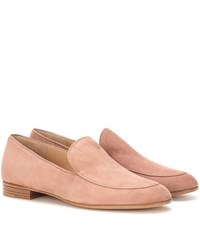 Gianvito Rossi Marcel Suede Loafers Pink