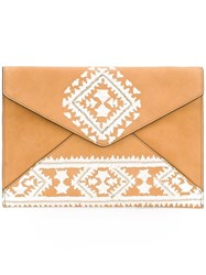Rebecca Minkoff Envelope Clutch Bag Brown