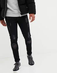 Voi Jeans Super Skinny In Black