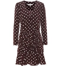 Veronica Beard Lou Lou Ruched Flounce Dress Black