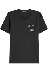 Dolce And Gabbana Embellished Cotton T Shirt