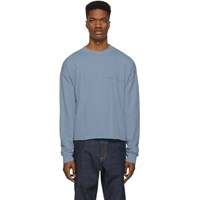 Nasaseasons Ssense Exclusive Blue 'Almost Famous' Long Sleeve T Shirt