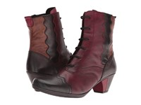Rieker D1271 Havanna Vino Antik Chestnut Women's Dress Boots Burgundy