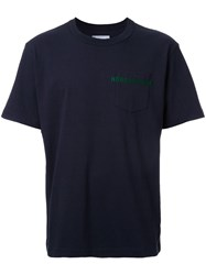 Sacai Horrorshow Patch Pocket T Shirt Blue