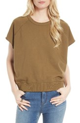 Free People Women's Short Sleeve Pullover Moss