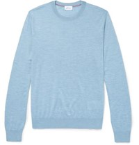 Brioni Slub Cashmere Blend Sweater Blue