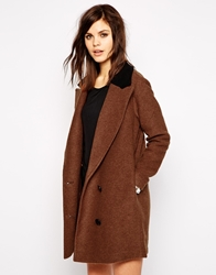 Y.A.S Tailor Hairy Coat Brown