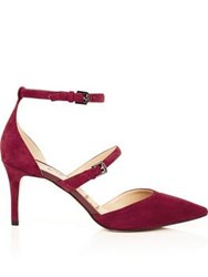 Sam Edelman Thea Double Strap Heels Red