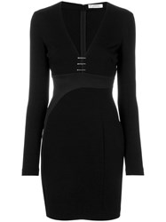 Versace Collection Plunge Bar Mini Dress Women Polyamide Spandex Elastane Viscose 42 Black