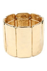 Amrita Singh Vertical Stretch Cuff Bracelet Metallic