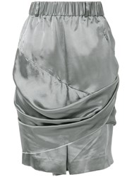 Moohong Draped Shorts Metallic