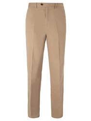 John Lewis Wrinkle Free Flat Front Trousers Stone