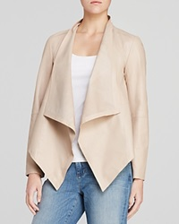 Eileen Fisher Draped Leather Jacket The Fisher Project Buttercream