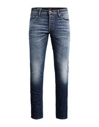 Jack And Jones Jj Tim Original Straight Leg Jeans Blue Denim