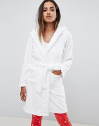 Lipsy Robe With Heart Detail White