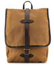 Filson Belted Flap Backpack Brown
