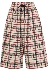 Vivienne Westwood Anglomania Sumo Printed Stretch Cotton Culottes Brick