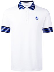 Dirk Bikkembergs Contrast Collar Polo Shirt White